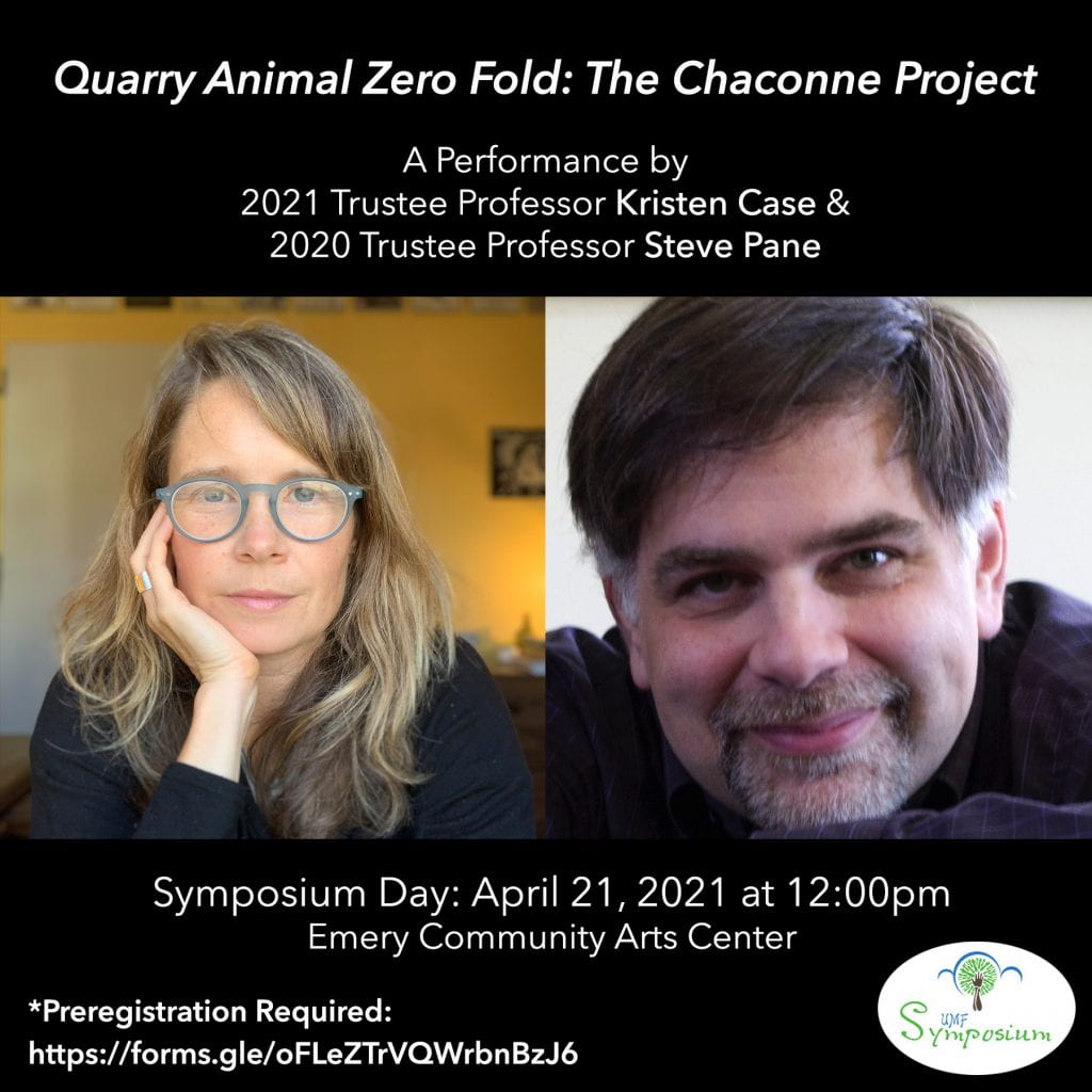 Flyer for Quarry Animal Zero Fold: The Chaconne Project