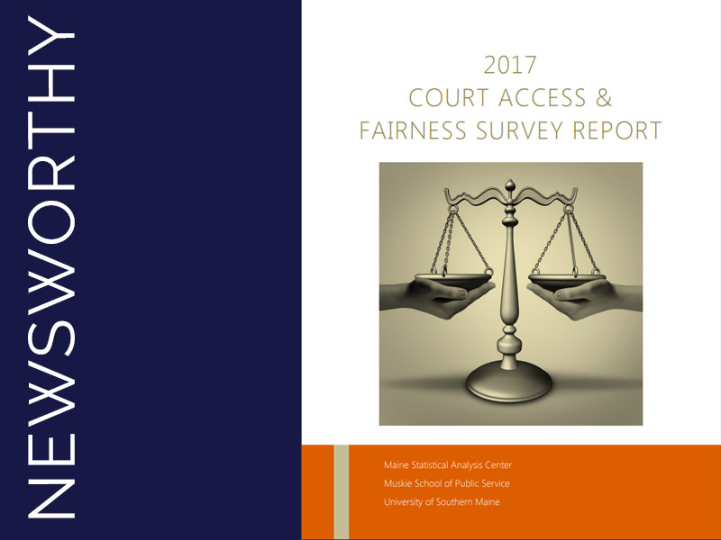 2017 Court Access & Fairness Survey Report Cover