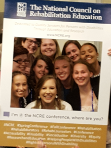 Rehabilitation Services Students at NCRE (April 2016)