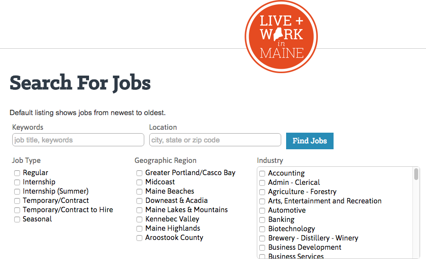 the job board also lists job postings with job title employer name and location description of job and links to apply view the employer profile