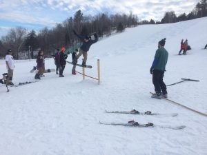 Community members gather for the first annual Titcomb Challenge event. (Photo by Clyde Mitchell)