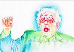 Bernie Sanders watercolor painting by Hailey Jane Creations. (Photo Courtesy of Etsy)