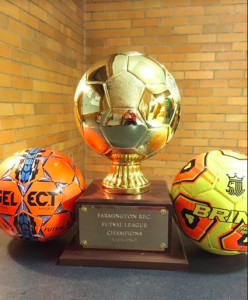 The trophy given to the champions of the futsal league. (Photo Courtesy of Seth Noonkester)