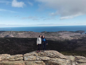 Eva Schneider and Hannah Carlson enjoying the view. (Photo by Demi Dai)