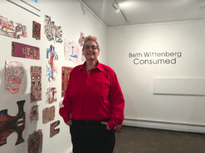 "Beth Wittenberg Displays Her exhibit ""Consumed"" at UMF Art Gallery"