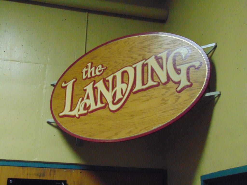 The Landing sign