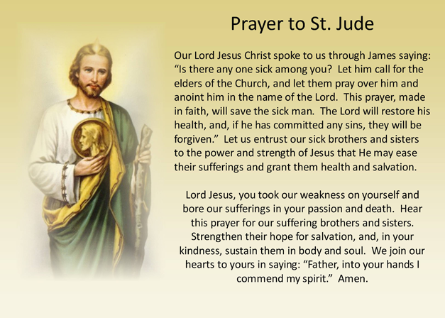 st jude prayer for the sick