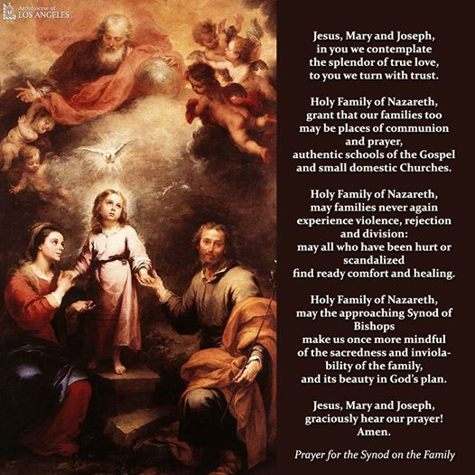 Prayer For The Synod On Family