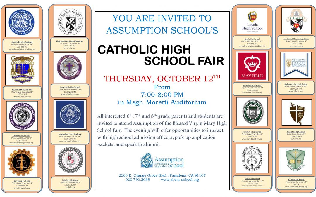 CATHOLIC HIGH SCHOOL FAIR