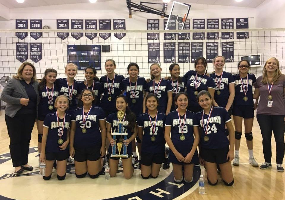 2017 CYO Volleyball Navy Division Champions!!