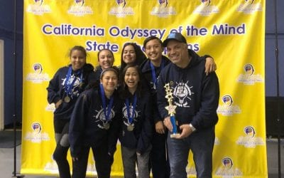 ABVM wins 1st & 3rd place in California State in Odyssey of the Mind competition!
