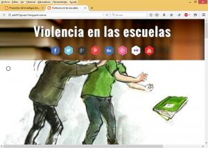 Personalización del blog sobre violencia en el ámbito escolar