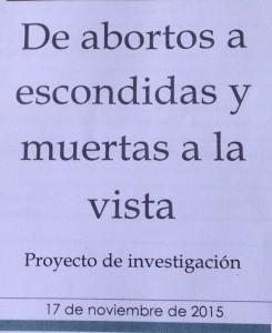 Investigación sobre el aborto en Argentina