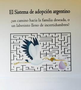 Carátula del trabajo sobre la adopción en Argentina