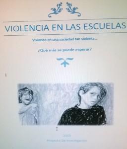 Carátula del trabajo sobre violencia en las secuelas