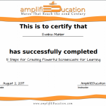 Screencasting-a course by Amplifieducation