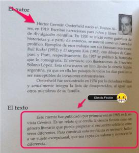Información seleccionada del libro.