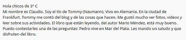 COMENTARIO ALEMAN
