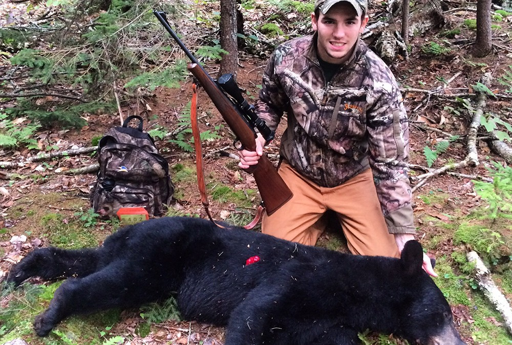 Student who shot black bear