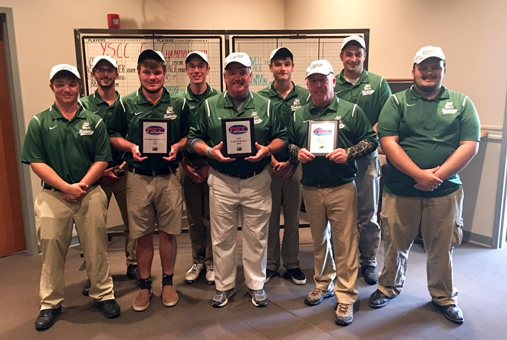 Paul Smith's College golf team following 2016 championship win