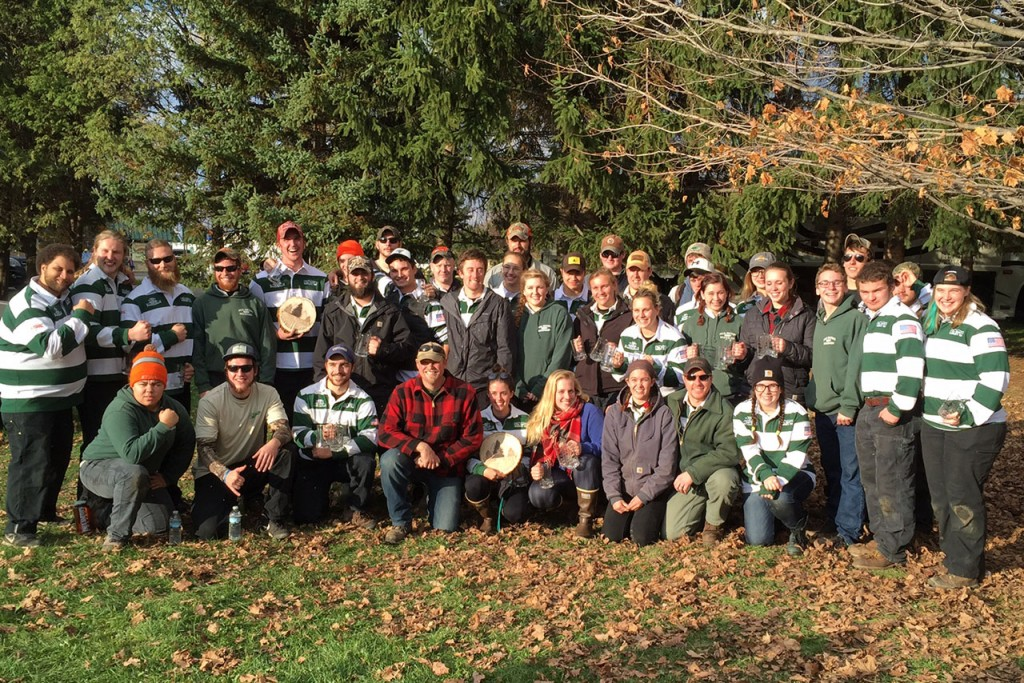 Group photograph of Woodsmen's Team