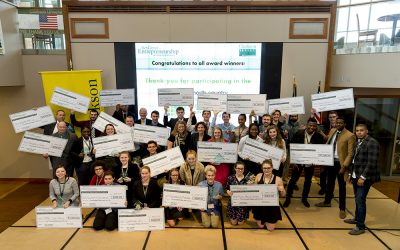 Paul Smith's College student entrepreneurs podium in business competition