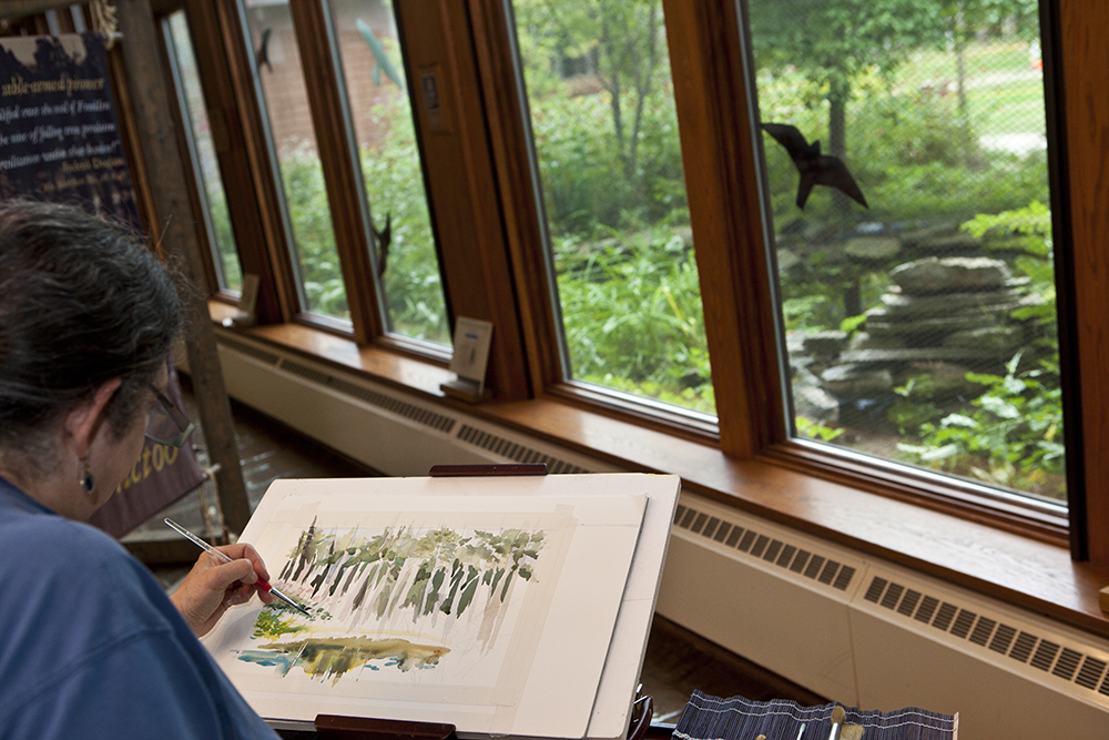 Plein Air in Heron marsh gallery at the VIC Paul Smith's NY, summer 2012. photo by Nancie Battaglia