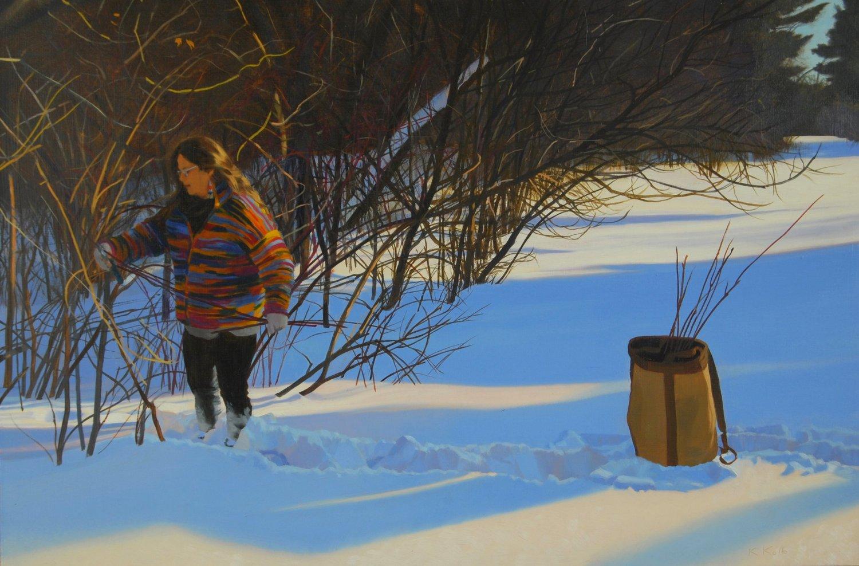 Harvesting Red Osier by Kathleen Kolb