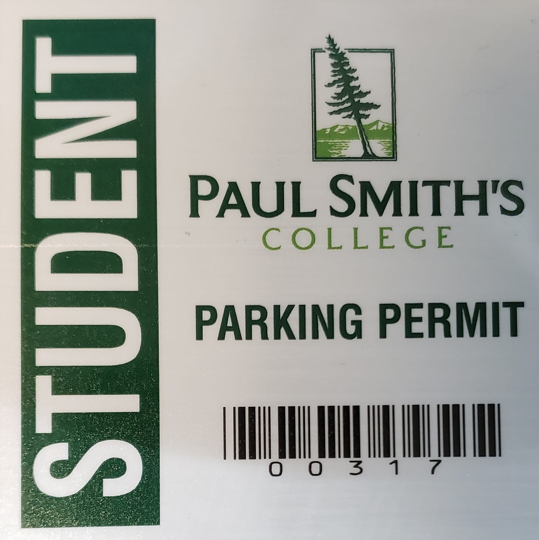 2016 - 2017 Student Parking Permit