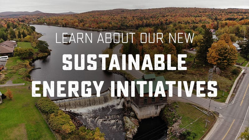 Learn about our new sustainable energy initiatives