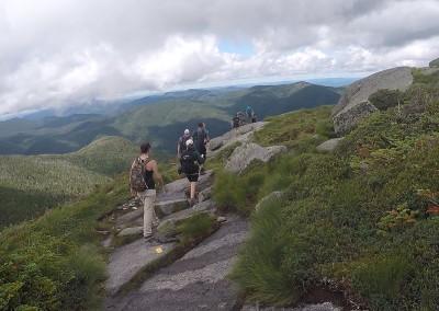 Hikers on Wright Peak