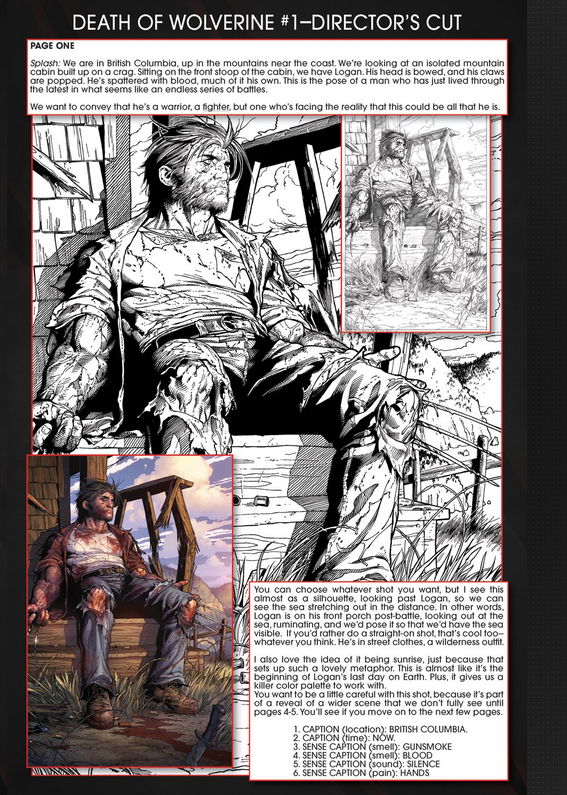 Page 1 from Death of Wolverine #1, script by Charles Soule with art by Steven McNiven, and color art by Justin Ponsor. Characters and art copyright Marvel Entertainment.