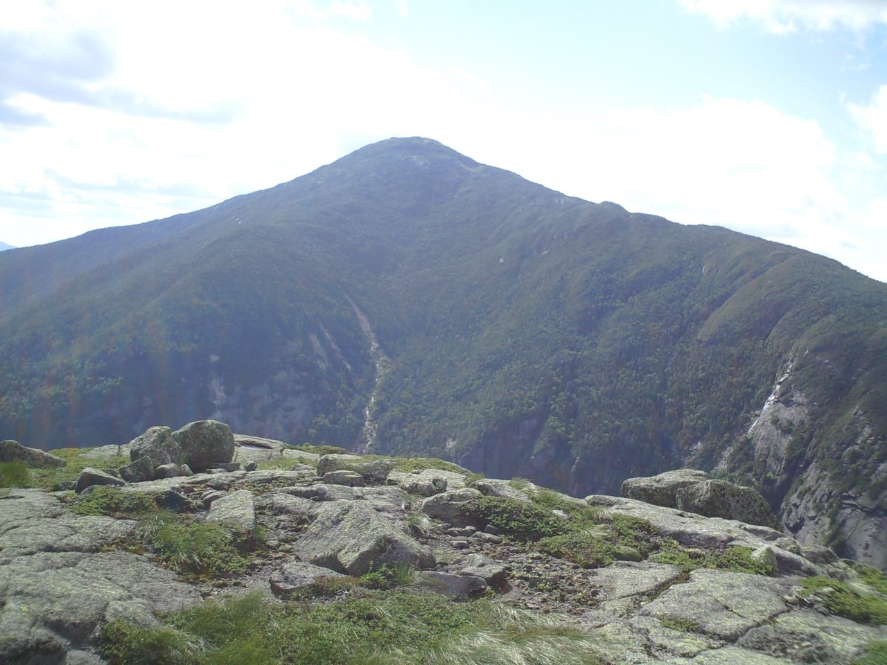 View of Mt. Marcy rising from Panther Gorge
