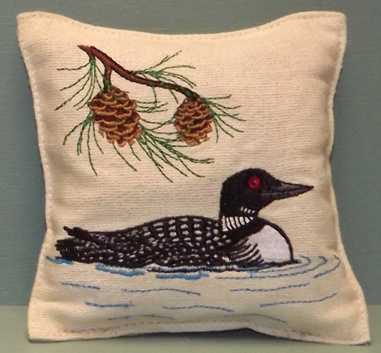 loon-pillow