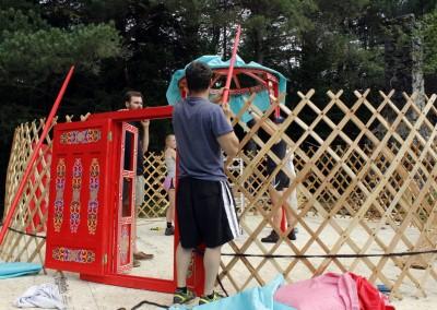 Yurt Raising