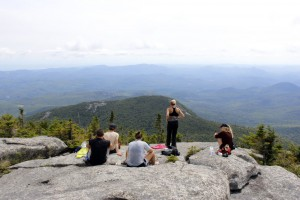 Mitch, Dominic, Hanna, Bethany and Henrike look off toward the southeast.