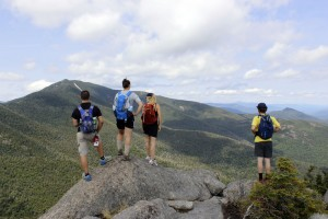 Mitch, Hanna, Henrike and Dominic atop Grace Peak.