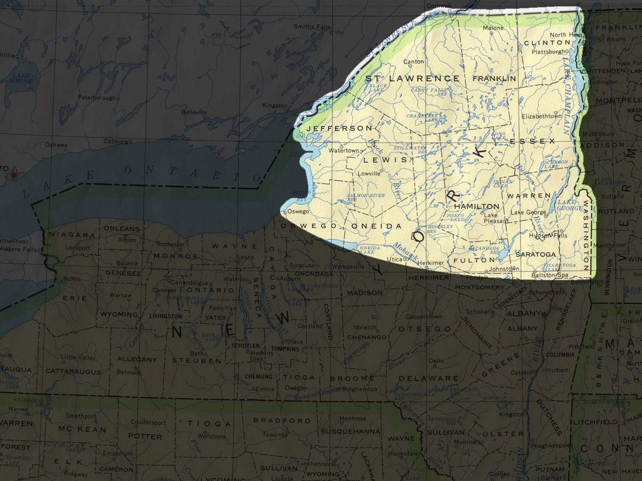 Map Of Northern New York.Project Silkmoth Paul Smith S College
